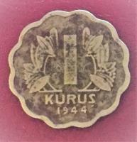 1944 YILI KENARI TIRTIKLI 1 GÜMÜŞ KURUŞ