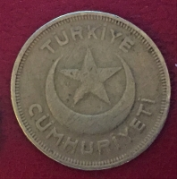 1940  GÜMÜŞ 5 KURUŞ ESKİ PARA
