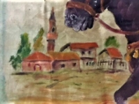 antika baston katalin fildişi tutac