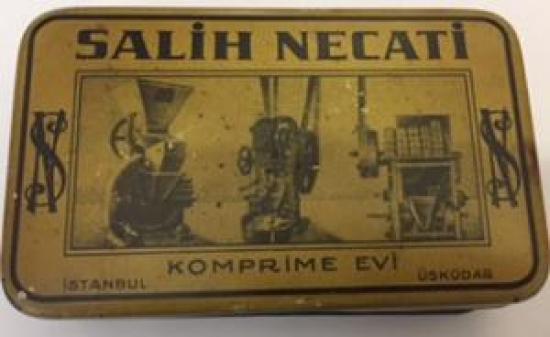 TENEKE KUTU SALİH NECATİ KOMPRİME EVİ ÜSKÜDAR İSTANBUL 1920