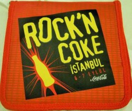 COCA COLA ROCK'N COKE İSTANBUL 6-7 EYLÜL CD SAKLAMA KABI