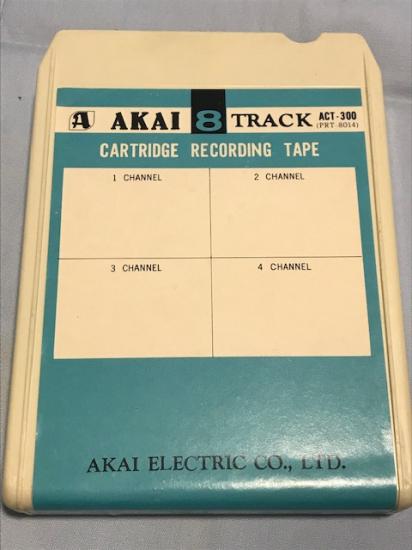 AKAI ACT-300 8 TRACK RECORDING TAPE CARTRİDGE WİTH KARTUŞ KASET KUTUSUNDA KULLANILMAMIŞ