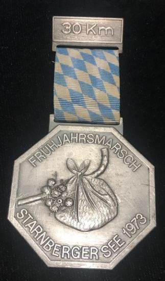 GÜMÜŞ KURDELALI 30 KM BAHAR FRÜHJAHRSMARSCH GÖL KOŞUSU 1973 ALMAN MADALYAMADALYA