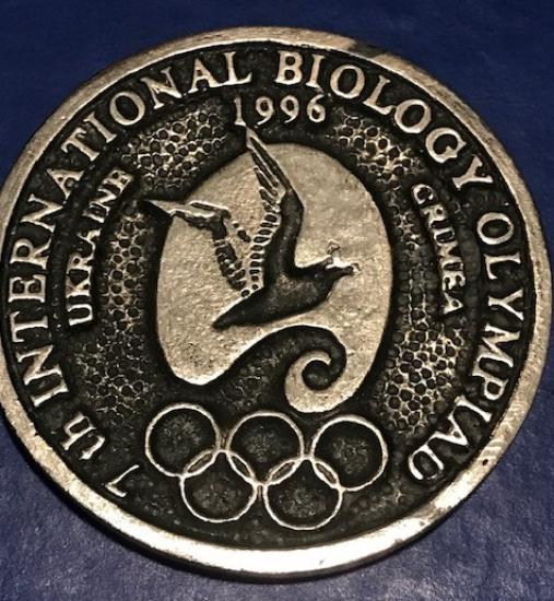 GÜMÜŞ İNTERNATIONAL 1996 BIOLOGY OLYMPIAD UKRAINA CRIMEA MADALYA