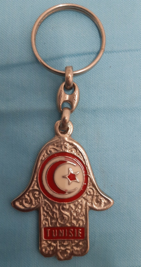 TUNISIE ANAHTARLIK RABİA TUNUS BAYRAK SEMBOLLU