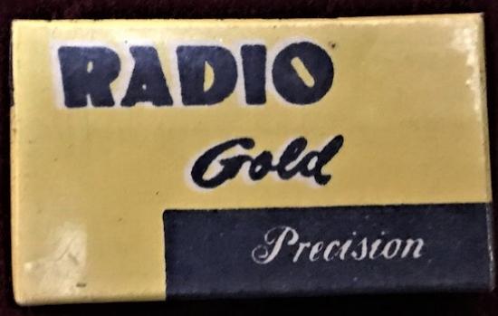 RADIO GOLD PRECISION TRAŞ BICAKLARI JİLET 5 ADET ACILMAMIŞ ORJİNAL KUTUSUNDA