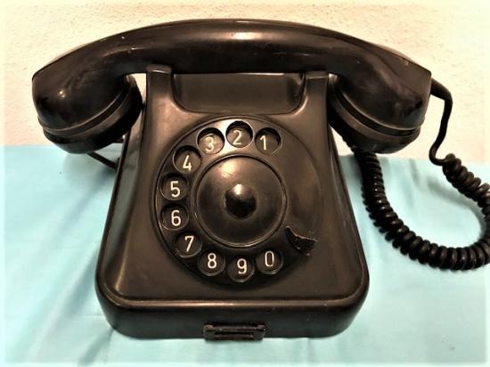 BAKALİT SİYAH CEVİRMELİ TELEFON SORUNSUZ CALIŞAN