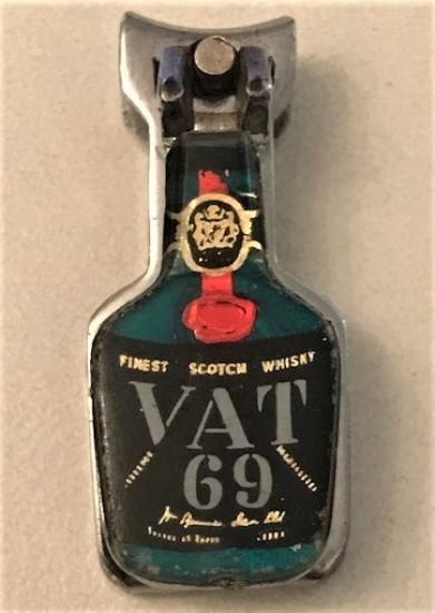 VAT 69 WHISKY ŞİŞE ŞEKLİNDE CİFT CAMBAZ ARMALI CELİK TIRNAK MAKASI