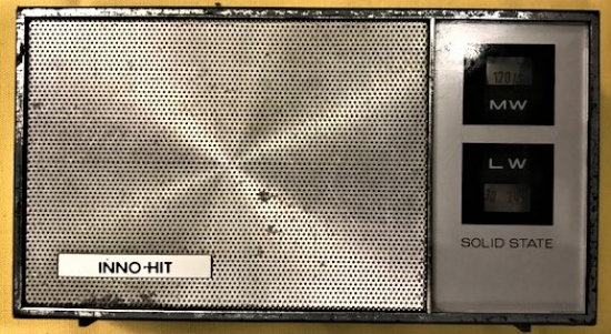 INNO HIT SOLID STATE 2 BAND LW MW RADIO  JAPAN