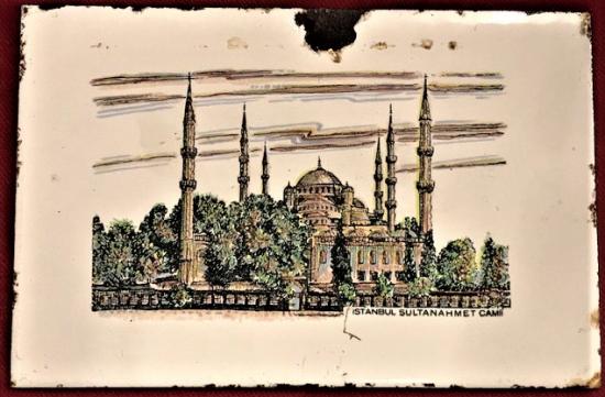 EMAYE İSTANBUL SULTAN AHMET CAMİİ  ÖZGEN EMAYE 15X10