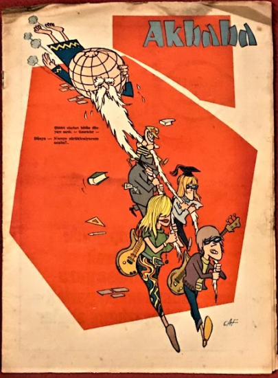 AKBABA SİYASİ MİZAH KARİKATÜR DERGİ 19 HAZİRAN 1968  SAYI 26