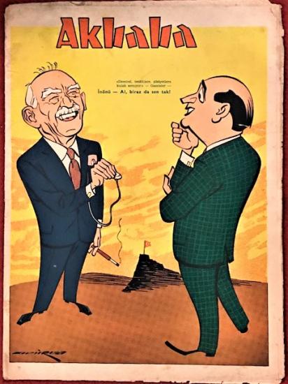 AKBABA SİYASİ MİZAH KARİKATÜR DERGİ  21 EYLÜL 1966 SAYI 39