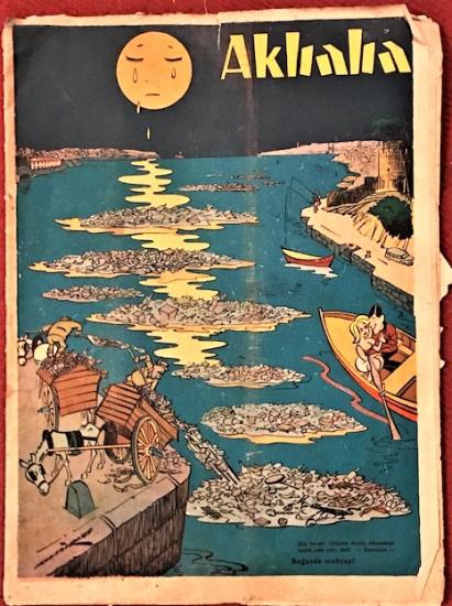 AKBABA SİYASİ MİZAH KARİKATÜR DERGİ  24 AGURTOS 1966  SAYI 35