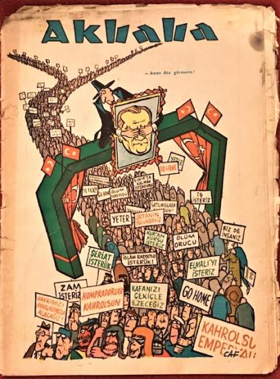 AKBABA SİYASİ MİZAH KARİKATÜR DERGİ 26 EKİM 1966 SAYI 44