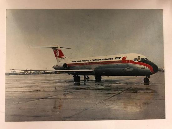 TÜRK HAVA YOLLARI DC 9 TİPİ HALİC İSİMLİ UCAK THY KARTPOSTAL