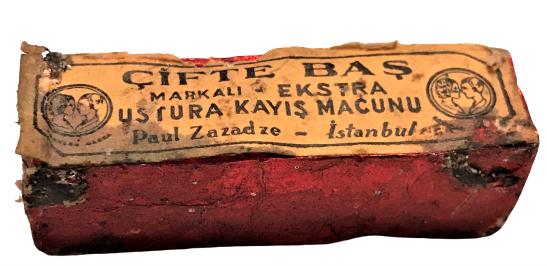 CİFTE BAŞ MARKALI EKSTRA USTURA BİLEME KAYIŞ MACUNU 1940