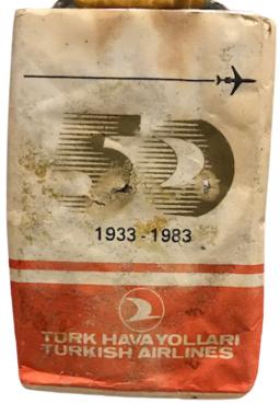 TÜRK HAVA YOLLARI TÜRKİSH AIRLINES 1933 1983 - 50 YIL ANISINA TEKEL TARAFINDAN ÜRETİLEN SIGARA