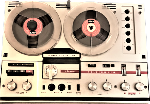 1960 ALMAN TELEFUNKEN MAGNETOPHON 204  STEREO CİF HOPORLÖR MAKARA BANT CALAR