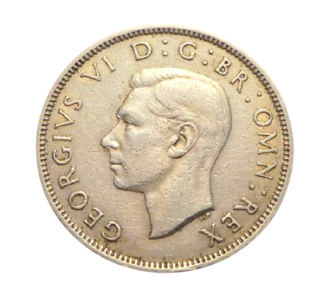 UK TWO SHILLINGS 1950 - KING GEORGE VI - ONE FLORIN GREAT BRITAIN 2 SHILLINGS