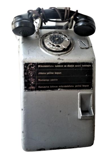 ANKESORLU JETONLU UMUMI TELEFON MEYDANLARDA VE KALABALIK MEYDANLARDA KULUBE İÇERSİNDE JETONLA CALIŞAN