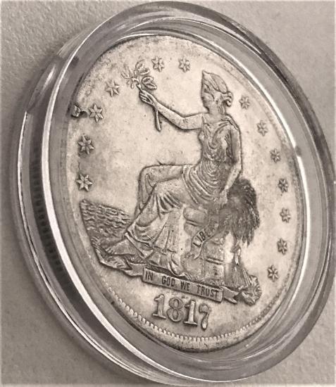 120 GRAİNS 900 FİNE TRADE SİLVER USA DOLLAR TEDAVUL 1817-1885 (replika)