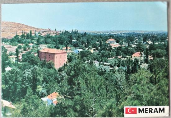 MERAM TALEBE PANSİYONU KONYA KARTPOSTAL ARKASI YAZILI