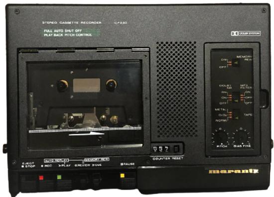 1980 STEREO MARANTZ CP-230 CASSETTE RECORDER PROFESYONEL JAPON SORUNSUZ CİHAZ